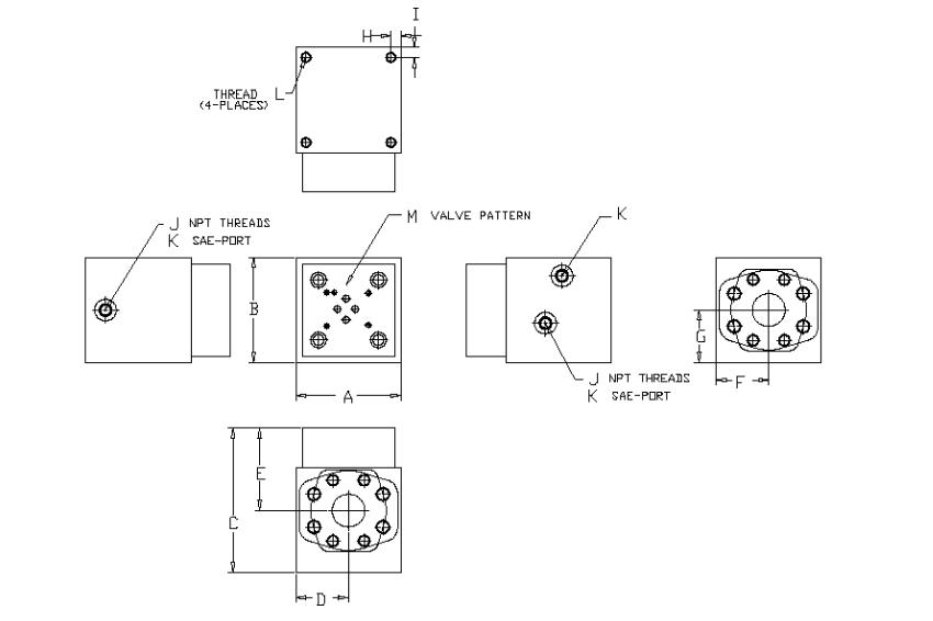 90 degree - high flow dump valve - 6000 PSI - general layotu
