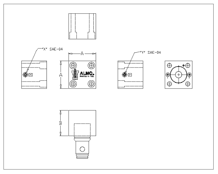 DIN 24342 - active poppet - 25m mto 50mm - 5000 PSI - general layout