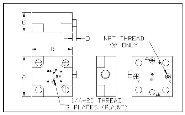 DIN24342 - 16mm - 63mm - 5000 PSI - general layout 2